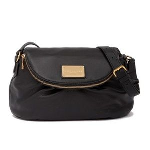 NEW Marc Jacobs Classic Leather Messenger Bag